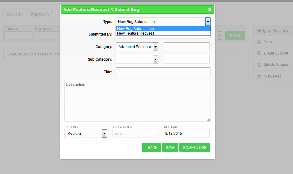 VBO Introduces New Feature Request Tool to Development
