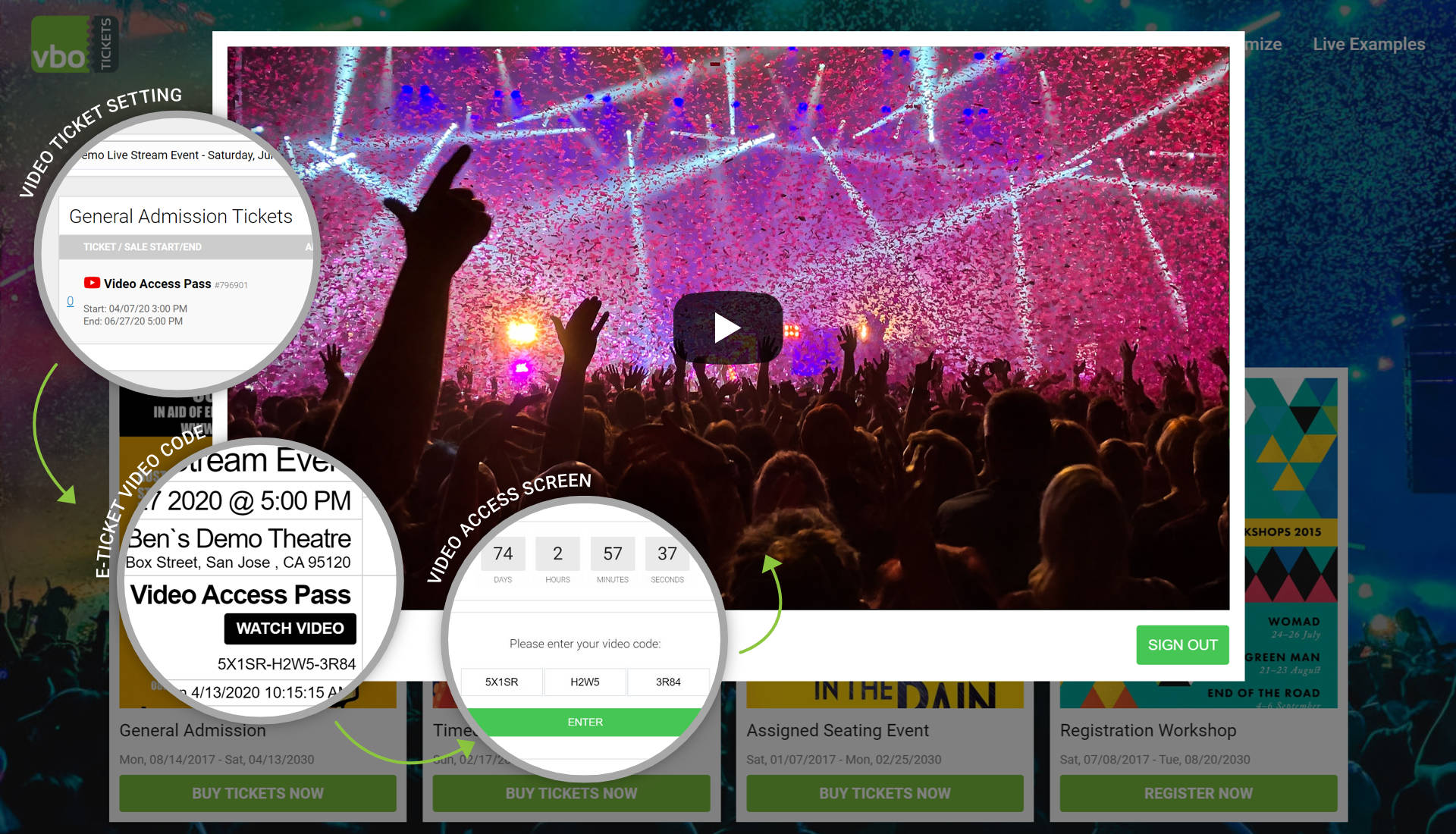 Virtual event video streaming VBO Tickets